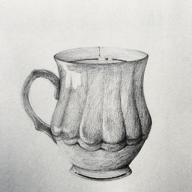 A cup of what exactly? #guess #art #sketch #cup #tea #penc… | Flickr