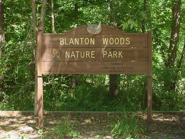 Blanton Woods Sign