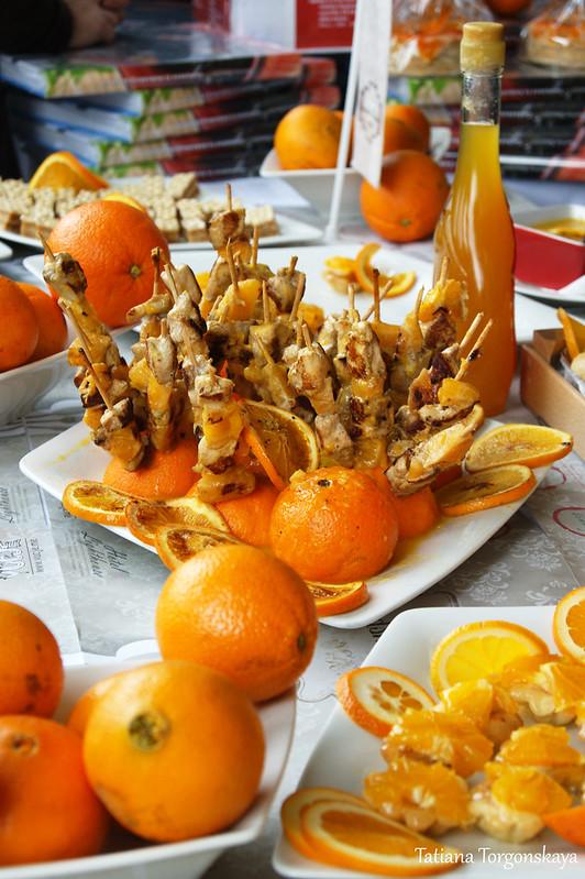 Шашлычки с апельсином