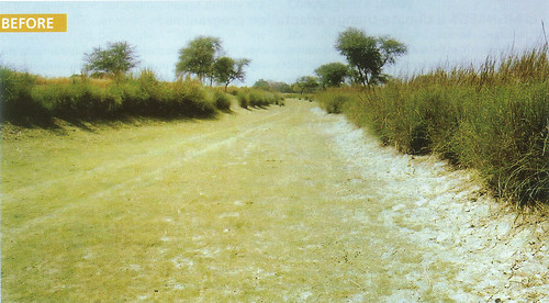 श्रमदान करने से पहले ससुर खदेरी नदी की स्थिति