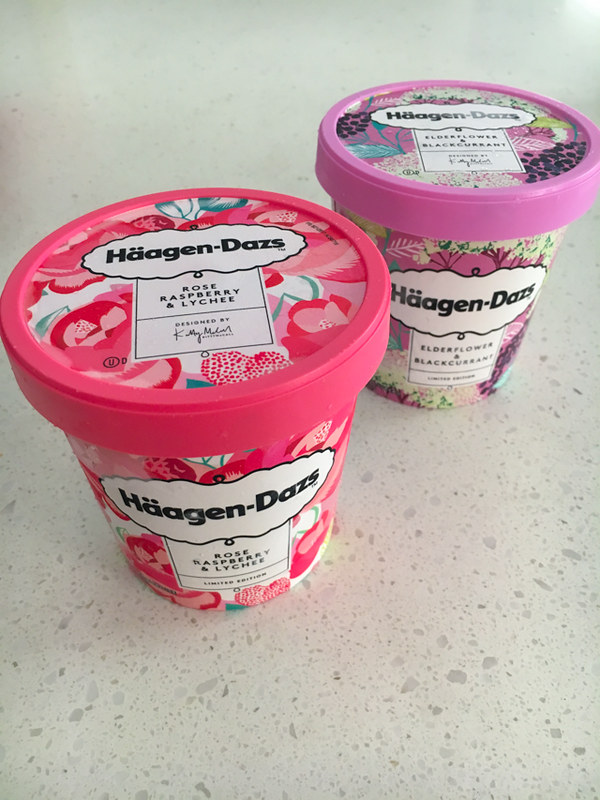Haagen-Dazs - Rose Raspberry and Lychee and Elderflower and Blackcurrant