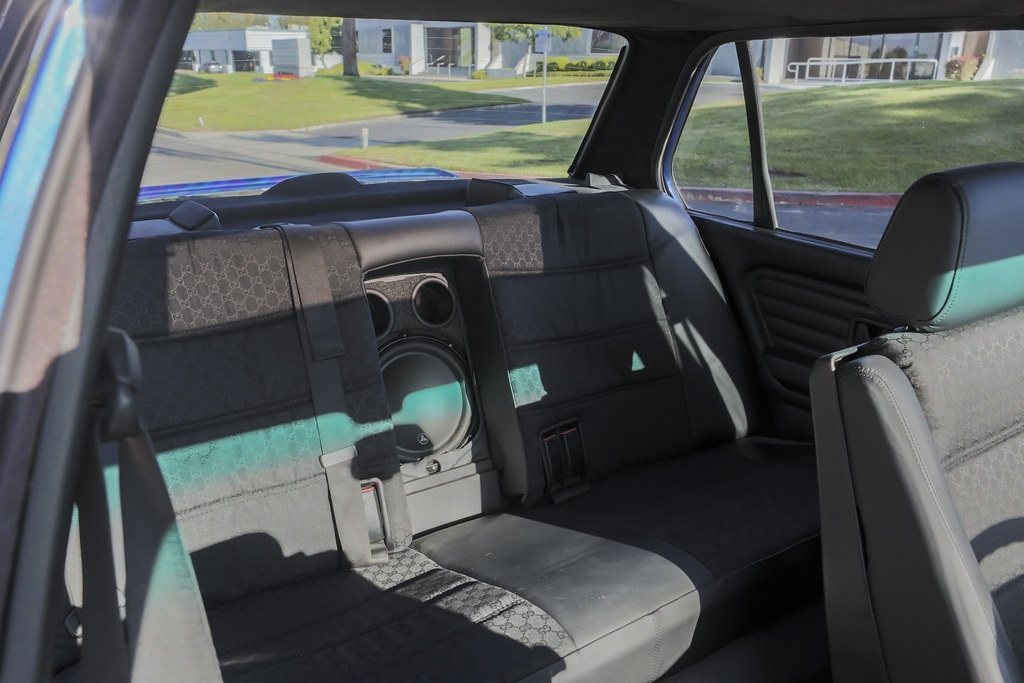 E30 Back Seat Gucci Fabric E30 Skipass Back Seat Eric Berger