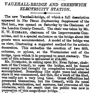 26th May 1906 - Opening of Vauxhall Bridge, London | by Bradford Timeline