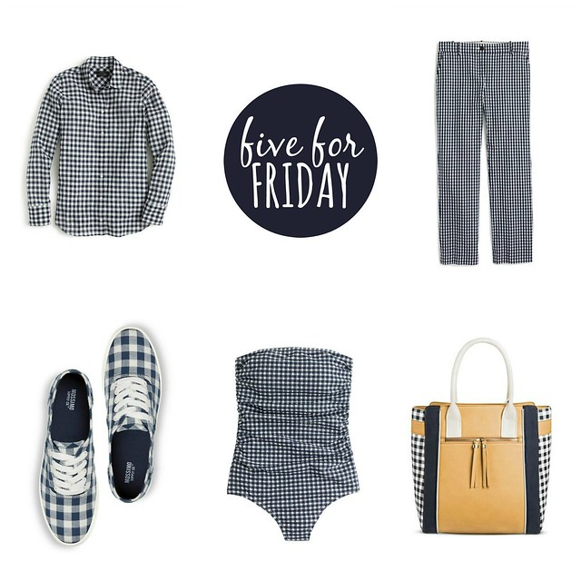 five for friday gingham spring 2017 | Style On Target blog