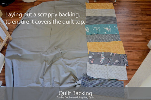 DWR:: Making the quilt back (just make sure it's larger than the quilt top!)