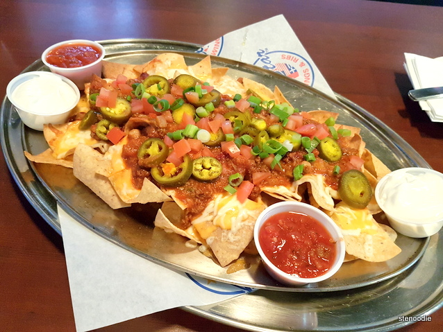 AllStar Nachos with ground beef chili