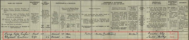 1911 Census Harry
