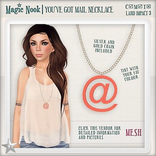 [MAGIC NOOK] You've Got Mail Necklace MESH | by Ayumi Cassini