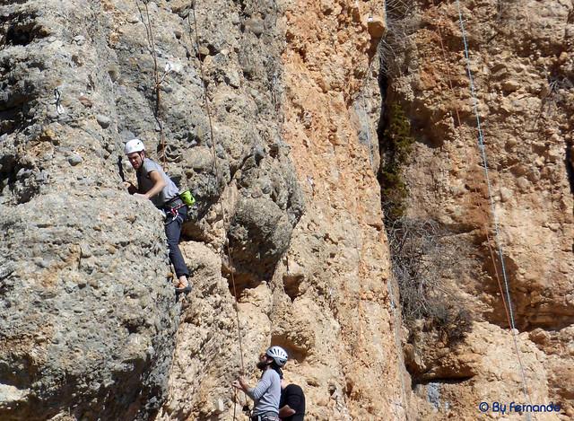 Escalador XY0125022017 - Rana, V+ -01- Vall de lord, Sector Serra Creu del Codó, Subsector Freebloc (25-02-2017)