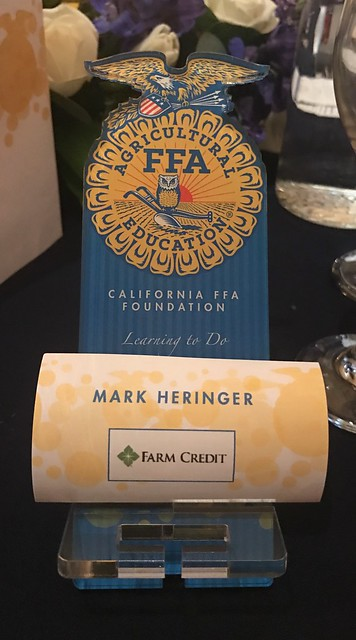 At the California FFA Foundation Blue & Gold Gala