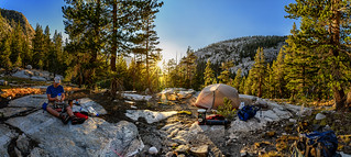 Sunset panorama at our Evolution Valley campsite | by speedcenter2001