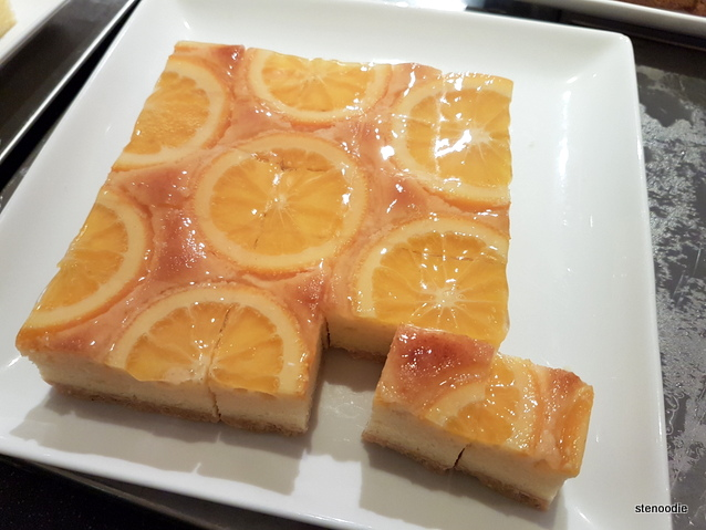 dessert with oranges on it