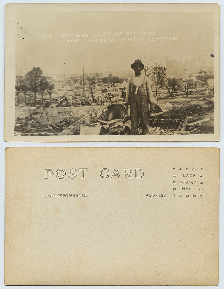 All That Was Left of His Home after the Tulsa Race Riot, 6-1-21 | by SMU Libraries Digital Collections