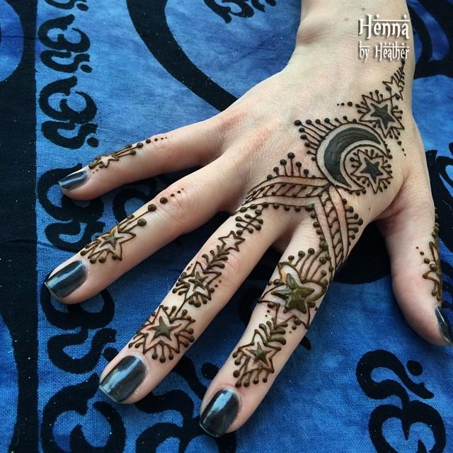 Henna Moon Star Stars Menhndi Festivalhenna Vaguely Flickr