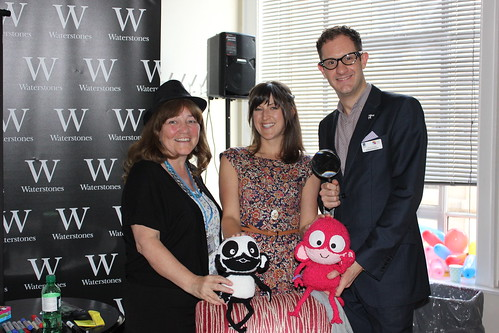 Festival Directors Kaye Tew and James Draper with Author Kate Pankhurst | by Manchester Children's Book Festival