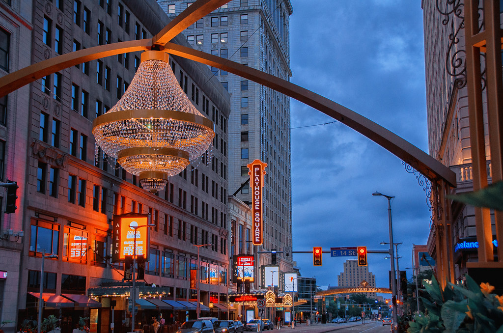 The Chandelier in Playhouse Square | Cleveland\'s new outdoor… | Flickr