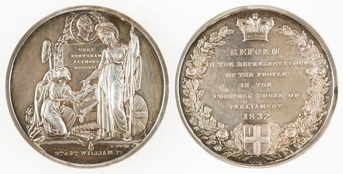 1832 City of London Reform Bill Medal