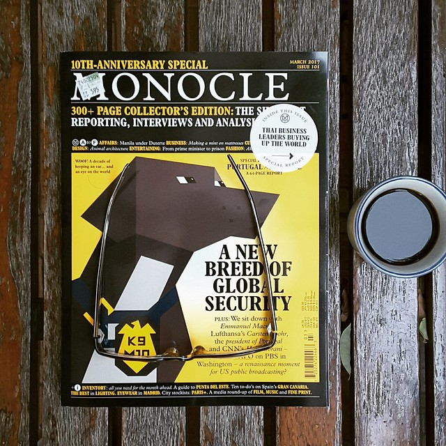 Monocle issue 101, the 10th anniversary issue with an article about Thai businesses buying western companies and brands with 3 companies featured.