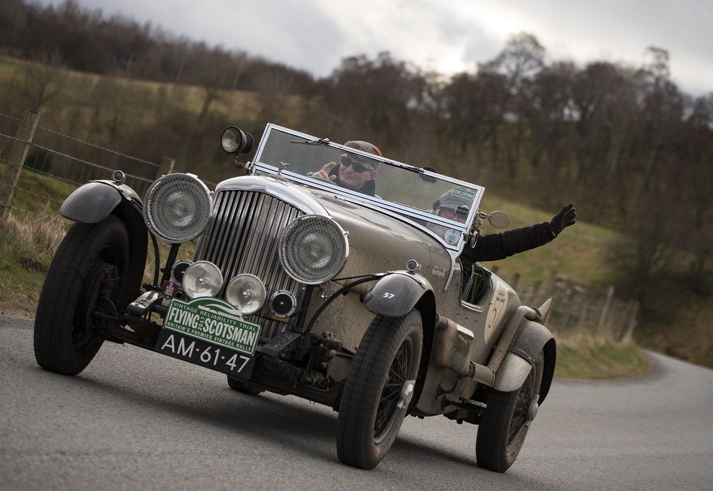 ... AM 61 47: Bentley Sports Flying Scotsman Vintage Car Rally 2017  Scotland Image