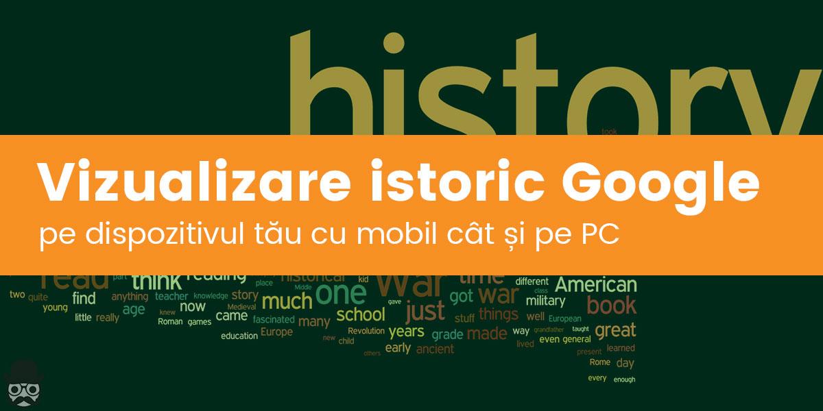 Vizualizare istoric Google