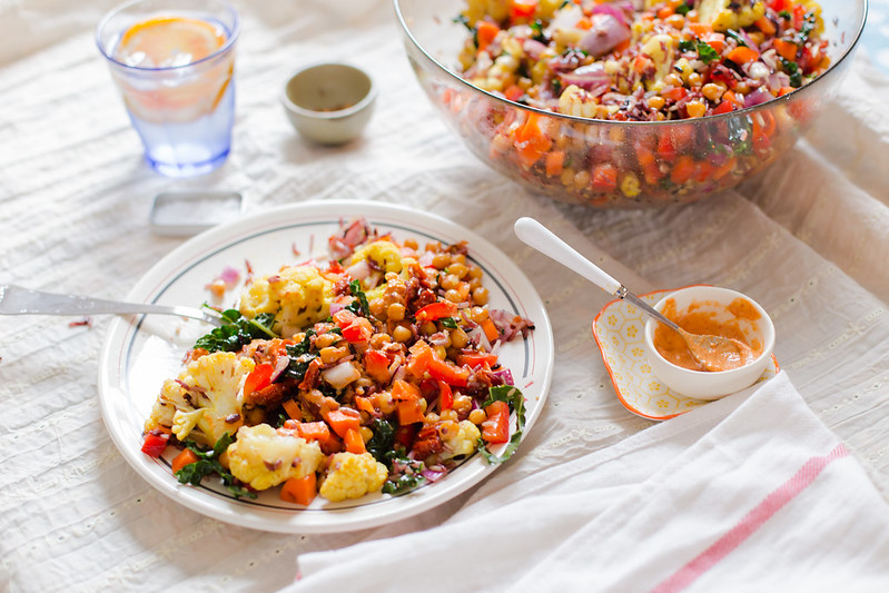 Rice Medley Salad with Roasted Chickpeas | the whinery