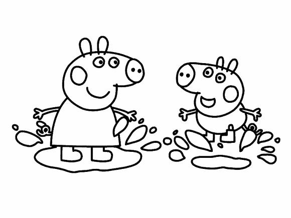 ... peppa_desenhos_colorir_4 Desenhos do Peppa Pig para colorir pintar  imprimir, desenhos peppa pig, pintar,