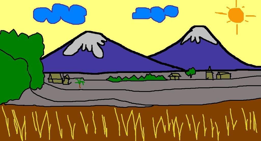 Pemandangan Btk Gambar Pemandangan Kartun By Zean Aditiya