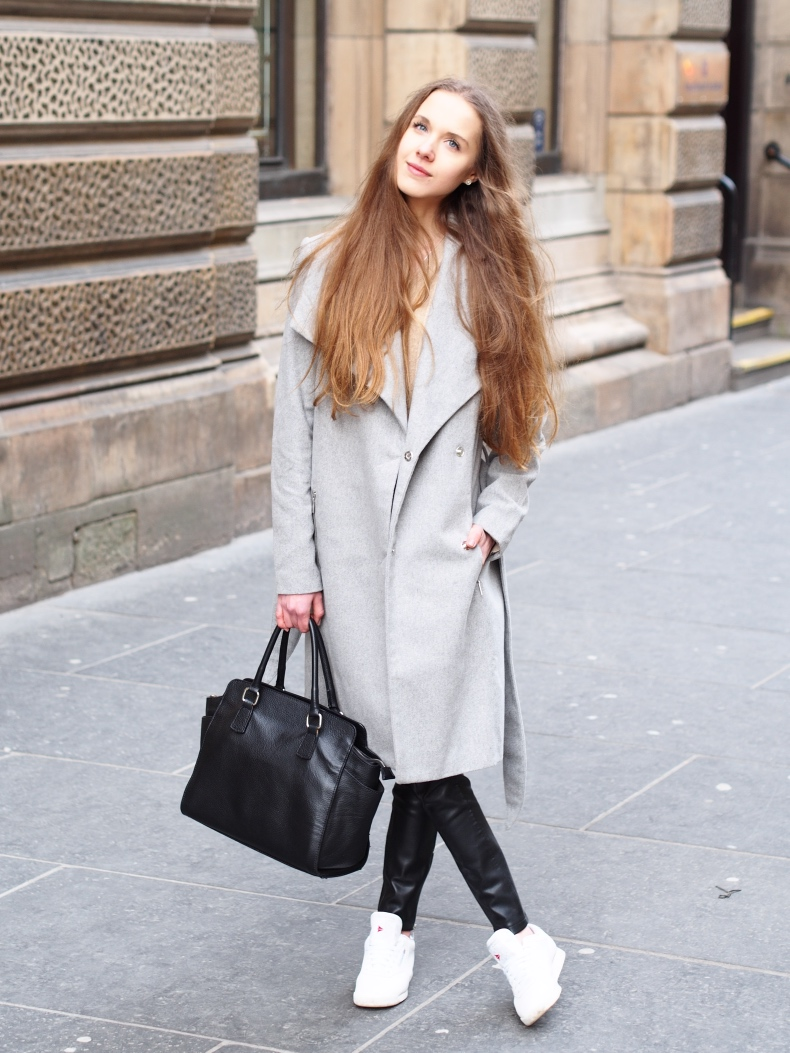grey wool coat