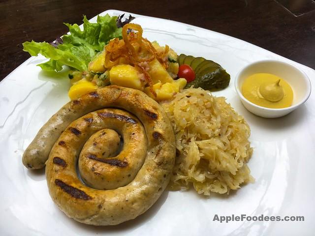 Brotzeit German Bier Bar & Restaurant - Thuringia coiled sausage plate