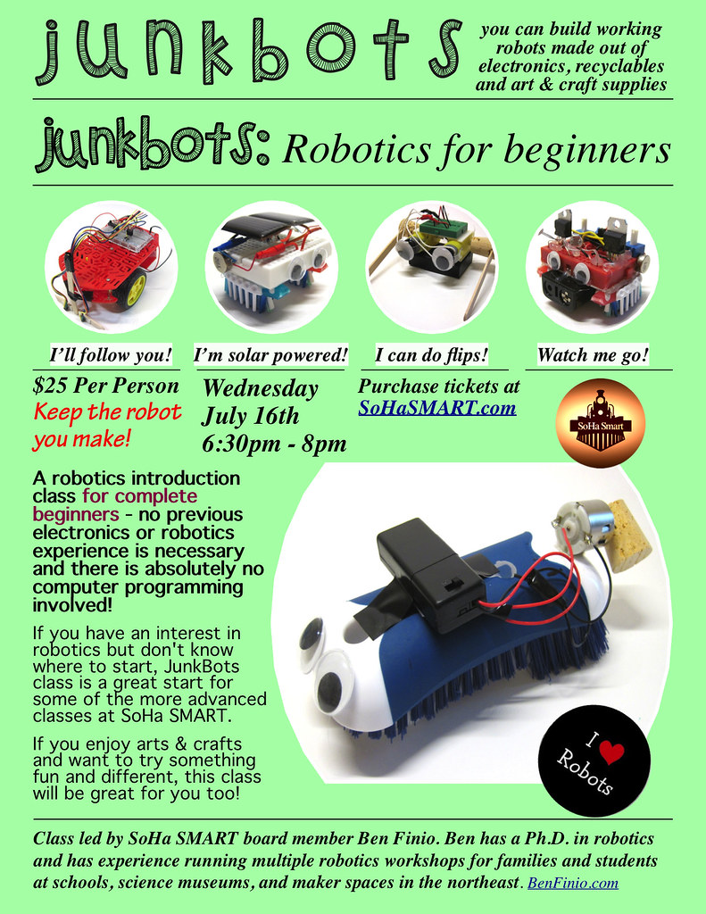 Junkbots Robotics Class At Soha Smart With Ben Finio Flickr