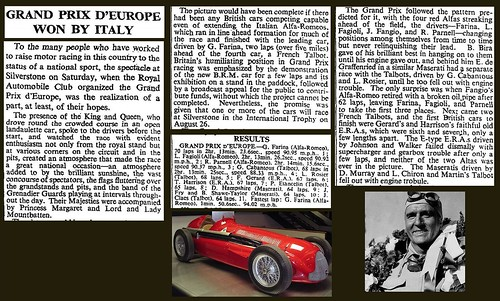 13th May 1950 - First F1 race (Silverstone) | by Bradford Timeline
