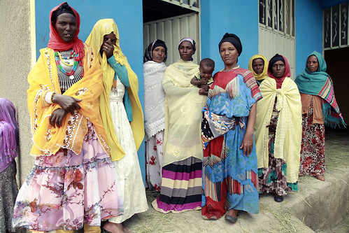 Women who benifit from a daycare funded by the Productive Safety Nets Program in Arsi | by World Bank Photo Collection