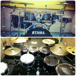 My tama starclassic performer b b 8x7 10x9 and 12x8 rack for 16x14 floor tom