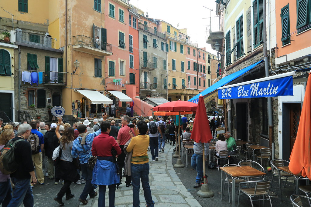 Busy day at Vernazza