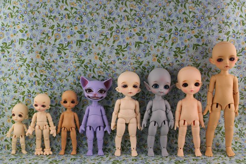 Tiny BJD comparison photo