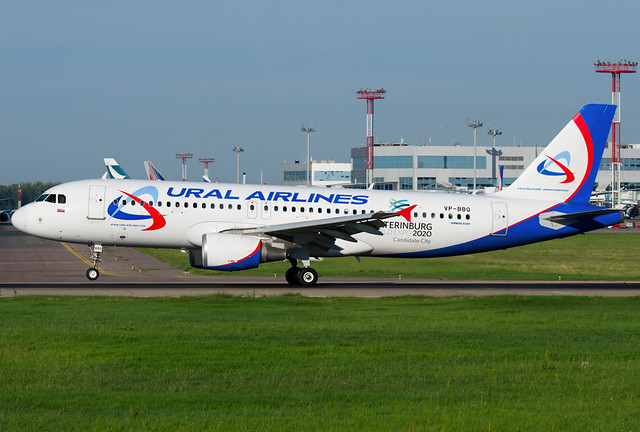 VP-BBQ  Ural Airlines Airbus A320-214