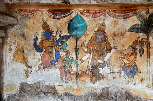 India tamil nadu thanjavur brihadisvara temple mura for 3d mural art in india