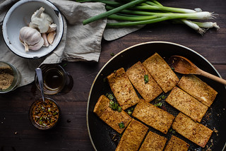 dubu jorim (korean soy-braised tofu) | by Two Red Bowls