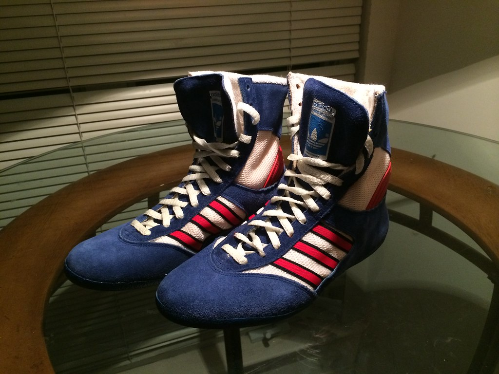 Fit size 7, 80s Adidas wrestling shoes - French made | Flickr