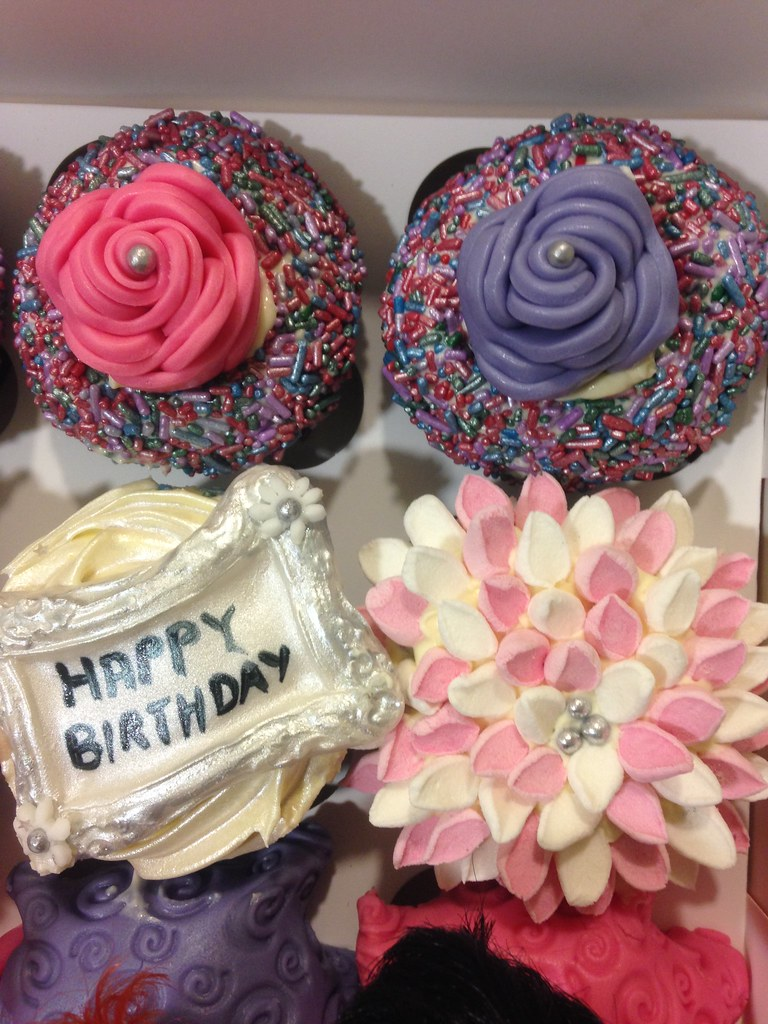 Personalised#birthday#cupcake#cupcake art#fondant#pink#pur… | Flickr