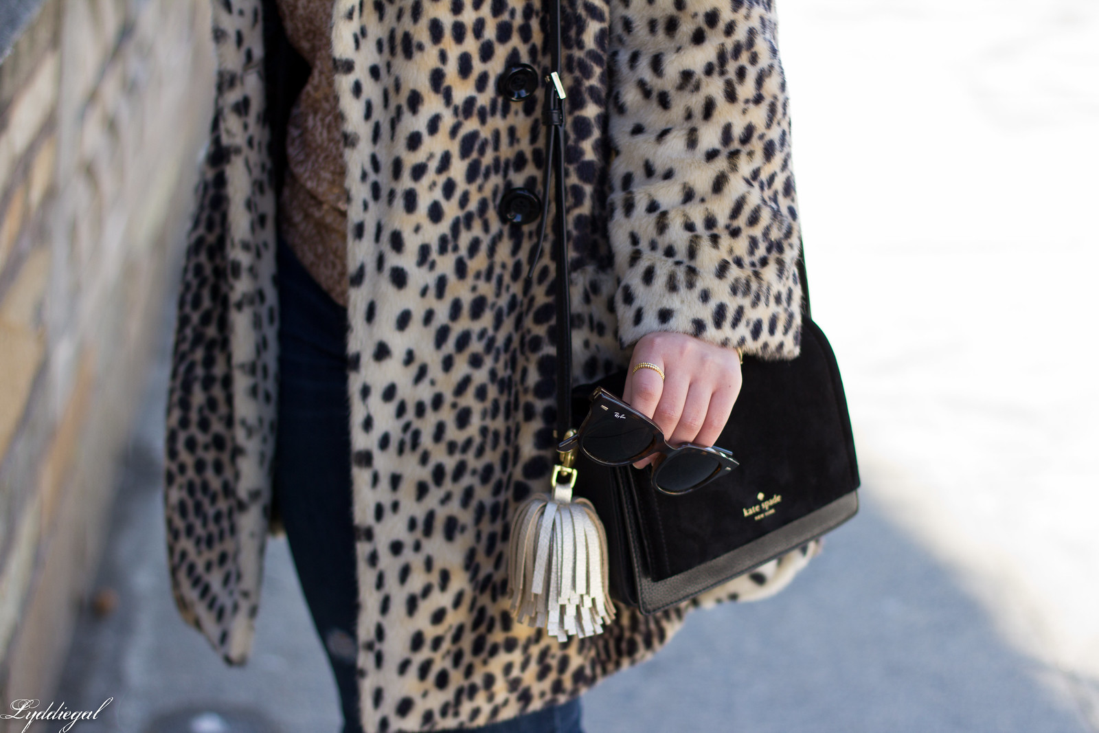 leopard fur coat, sequined top, kate spade bag-3.jpg