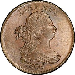 Harlan Page Smith 1805 C-1 Half Cent obverse
