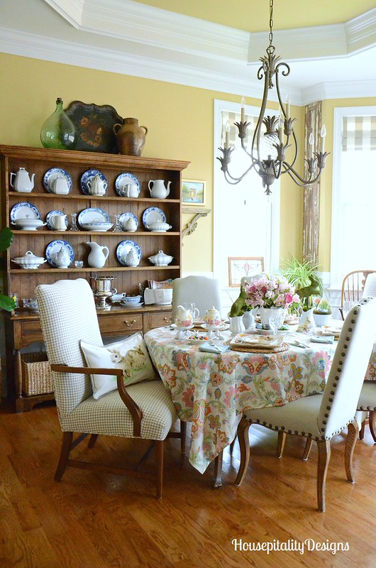 Easter Bunny Tablescape-Dining Room-Housepitality Designs