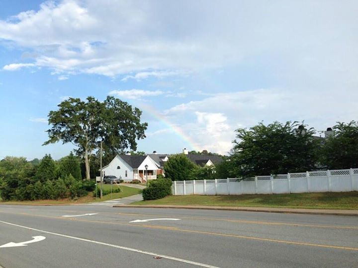 WGXA's Chief Photographer Perry Smith caught this rainbow