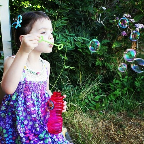 It's the little things... #bubbles #magicalchildhood #homeschool | by Urthmama