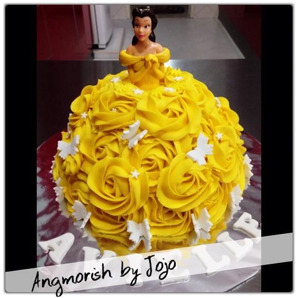 Princess Belle Doll Cake Avielle disney disneyprincess Flickr