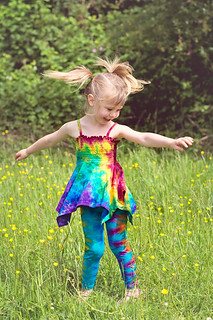 Rainbow Festival Top with tie dye Leggings | by tiedupanddyed