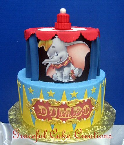 disney 39 s dumbo themed baby shower cake by graceful cake creations