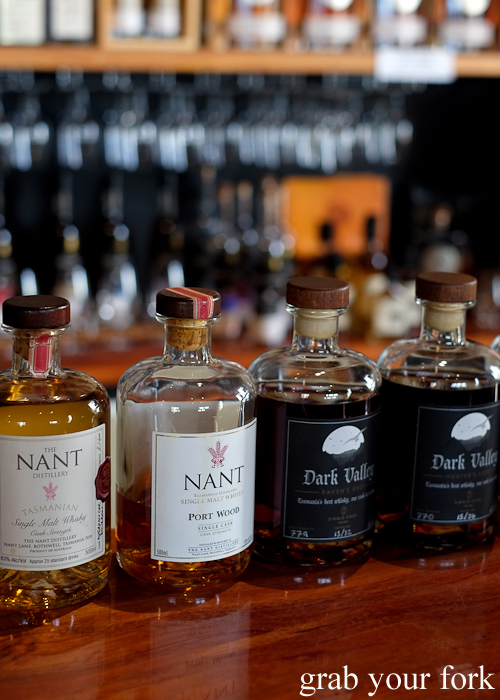 The Nant and Dark Valley Tasmanian whisky at Bruny Island House of Whisky on Bruny Island in Tasmania