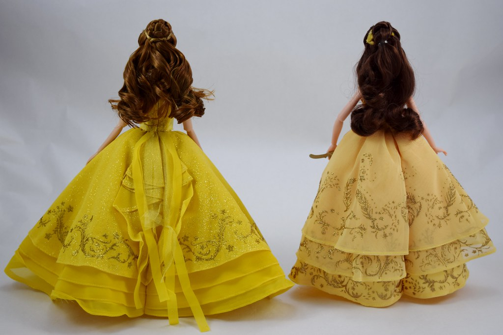 Disney Store DFC Belle vs Hasbro Enchanted Ball Gown Belle… | Flickr